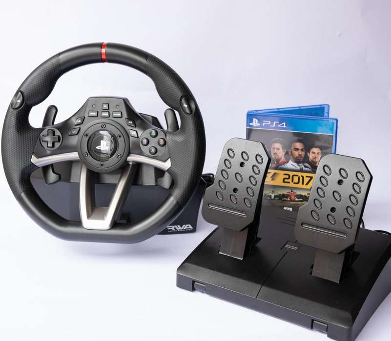 Volante Hori Racing Wheel para PS4 PS3 y PC - Incluye Juego