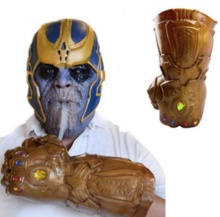 Guantelete de Thanos Gemas del Infinito portabebidas Avengers