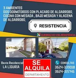 ALQUILO DEPARTAMENTO EN RESISTENCIA