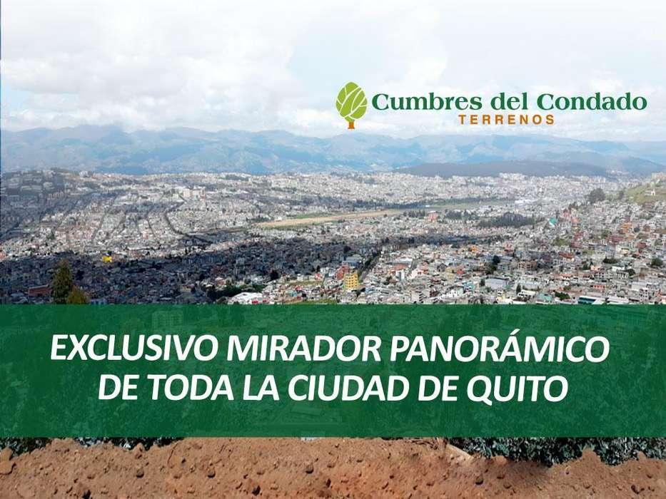 Cumbres del Condado Terreno para construir su casa en el norte de Quito desde 22,500. La mejor vista de la ciudad