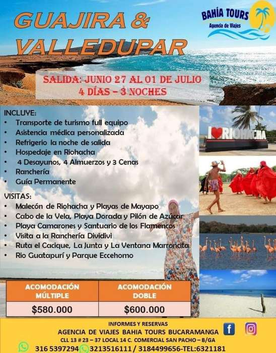 Tour Guajira 27 de Junio