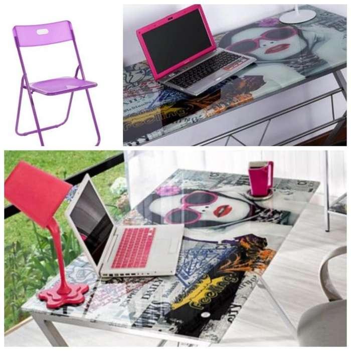 Vendo mesa con <strong>silla</strong>