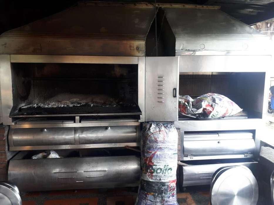 venta asador al carbon con ducto 12 mts de longitud