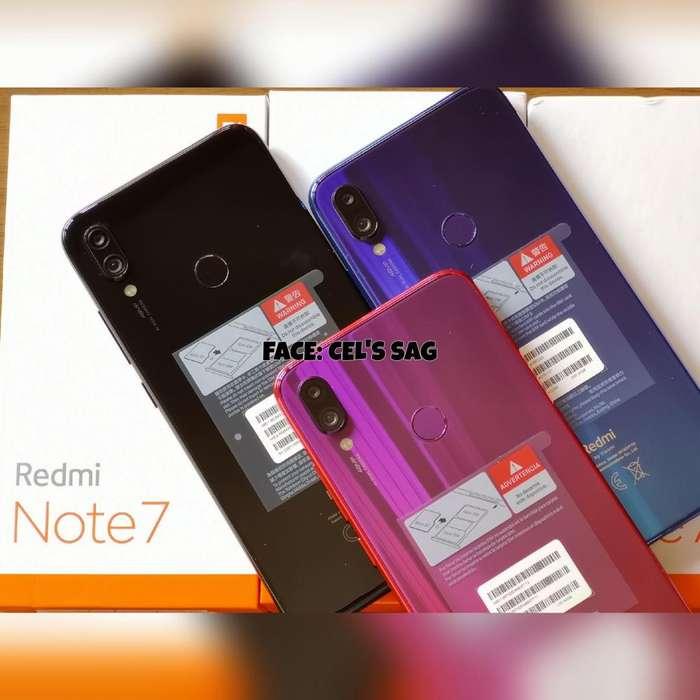 XIAOMI REDMI NOTE 7 NUEVOS 32GB/64GB , ACEPTO CELULAR Y EFECTIVO