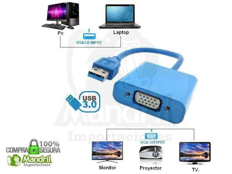 Adaptador Convertidor Usb 3.0 A Vga Para Pc Laptop Video Externo