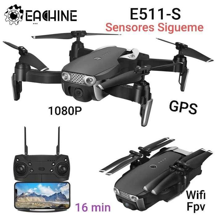 Drone E511s <strong>gps</strong> Camara 1080p Wifi 16 Min Sígueme Sensores actualizado estable 300m