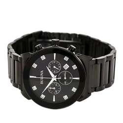 1b90e12a8abf ... Reloj Bulova Diamonds 98d123 Acero Inoxidable Negro Hombre De Lujo  PRECIAZO Envió Gratis ...