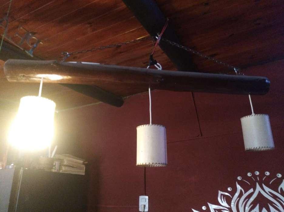 Vendo Lampara Artesanal con Tres Luces