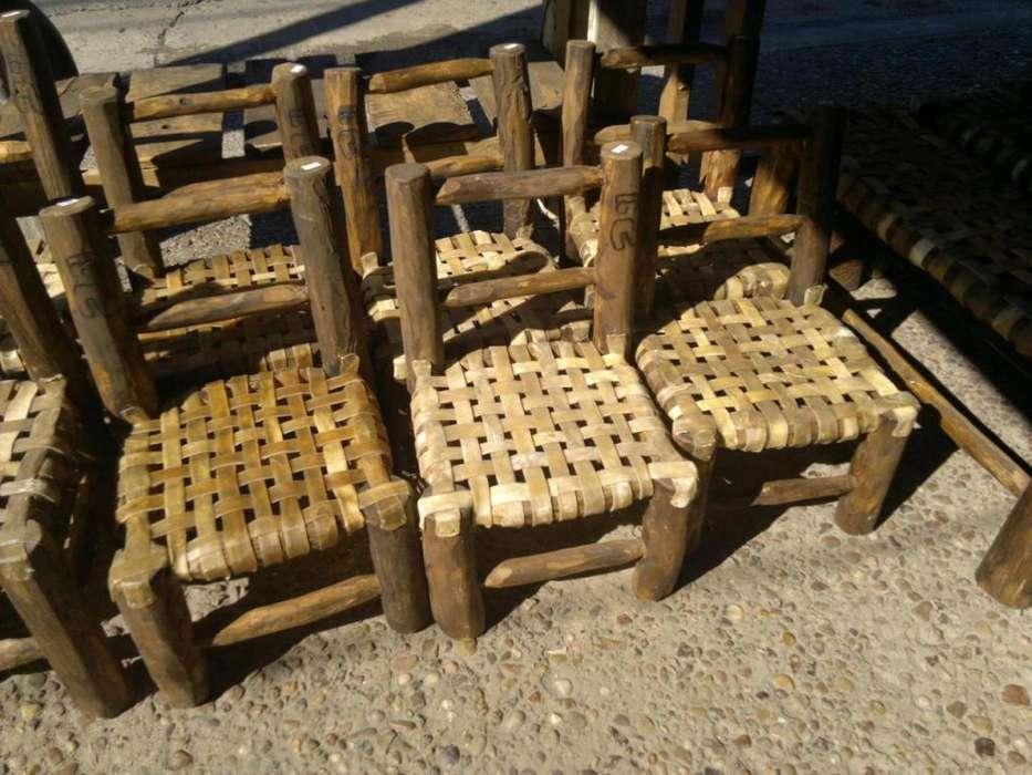 Sillas materas rusticas asiento de tiento