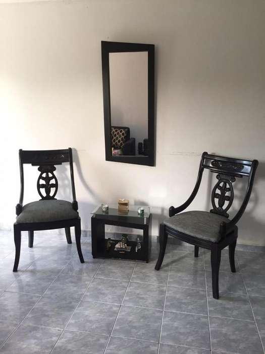 <strong>juego</strong> espejo, sillas y mesa