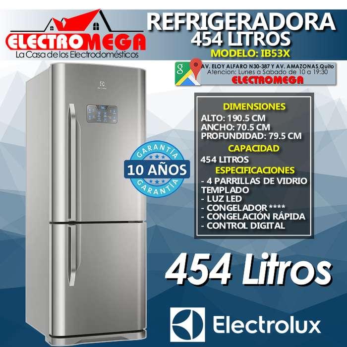 Refrigeradora Electrolux 454l Panel Digital Acero Inox Ib53x
