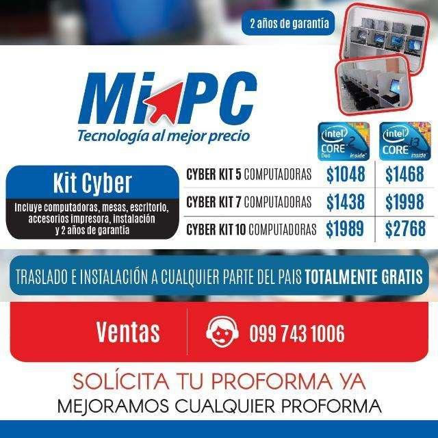 Cyber 5 equipos Core i3 Instalación y Traslado Gratis Todo El País