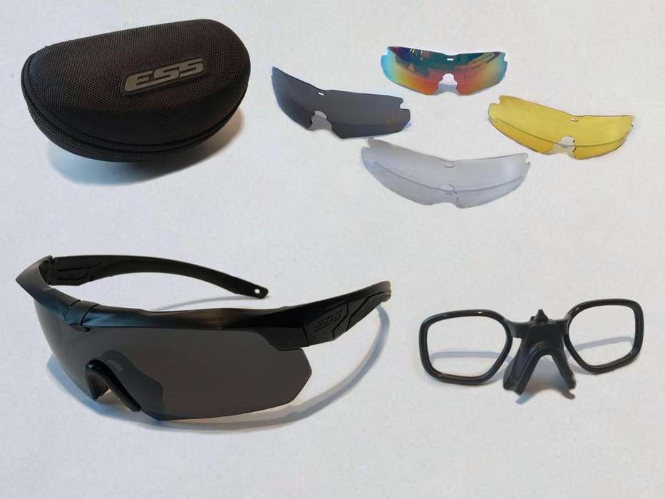 7857eb5228 Gafas ESS militares y para ciclismo protección UV lentes intercambiables  CROSSBOW series.