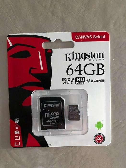 MEMORIAS KINGSTON 64GB SD CLASE 10, ZONA BELGRANO