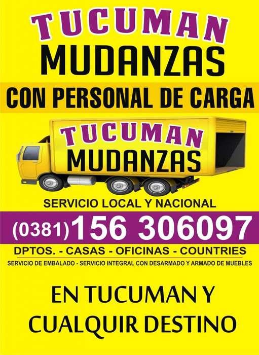 MUDANZAS 3816306097 EN TUCUMAN Y A TODO EL PAIS CON O SIN PERSONAL