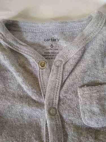 Pijama Carters Pañalero 6m-9m, Pie Oso Use 1 Vez Perfect