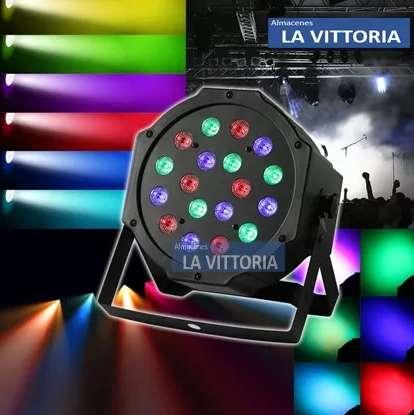 Tacho De Luces Led Audioritmico Dmx Dj.eventos Disco 18w Rgb