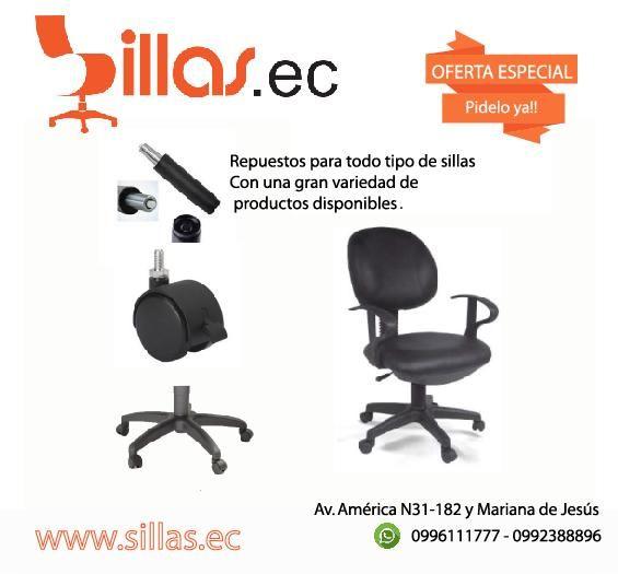 Repuestos para sillas de Oficina - Quito