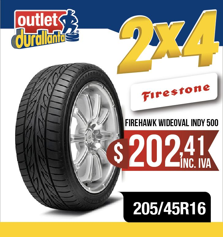LLANTAS 205/45R16 FIRESTONE FIREHAWK WIDEOVAL INDY 500 ROOMSTER SCOUT ROOMSTER STYLE