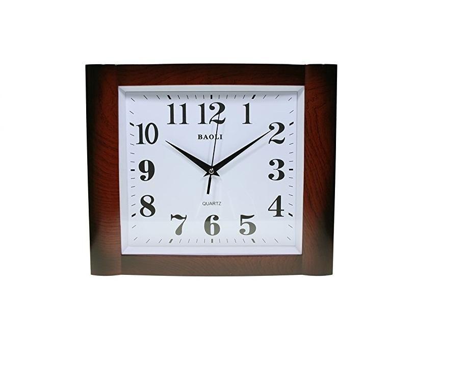 Reloj De Pared Análogo Rectangular Decoración No Ruido