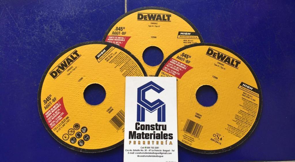 DISCO CORTE METAL 4 1/2 MARCA DEWALT