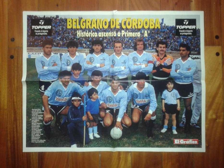 Póster Revista El Gráfico Belgrano De Córdoba 1991