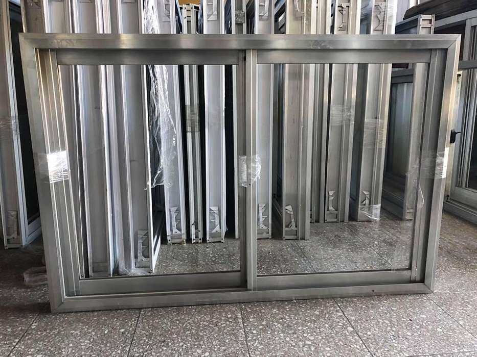 Ventana alumino natural 1.20 x 0.80