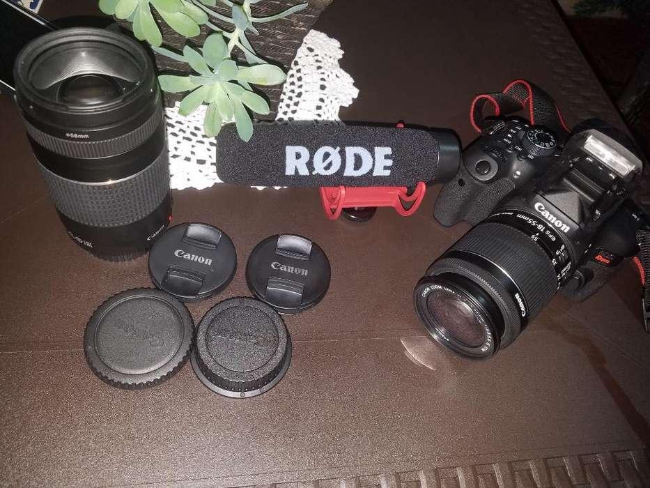 Camara Profecional Canon Rebel T6i 750d