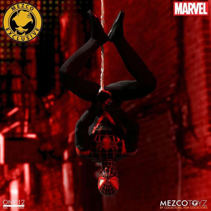 Figura Miles Morales Mezco One:12 Exclusivo SDCC Marvel