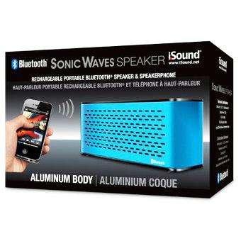 Parlante Portatil Isound Recargable Bluetooth Sonic Waves Speaker