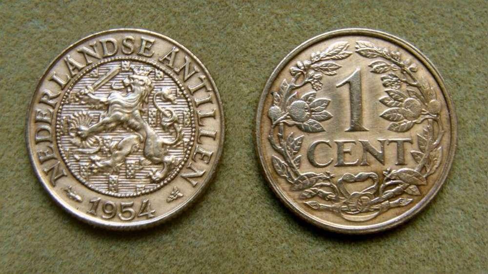 Moneda de 1 cent Antillas Holandesas 1954