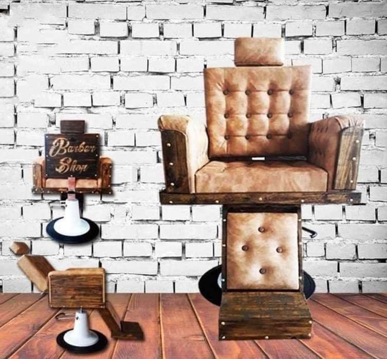 <strong>sillas</strong> de Barberia Peluquería en Madera