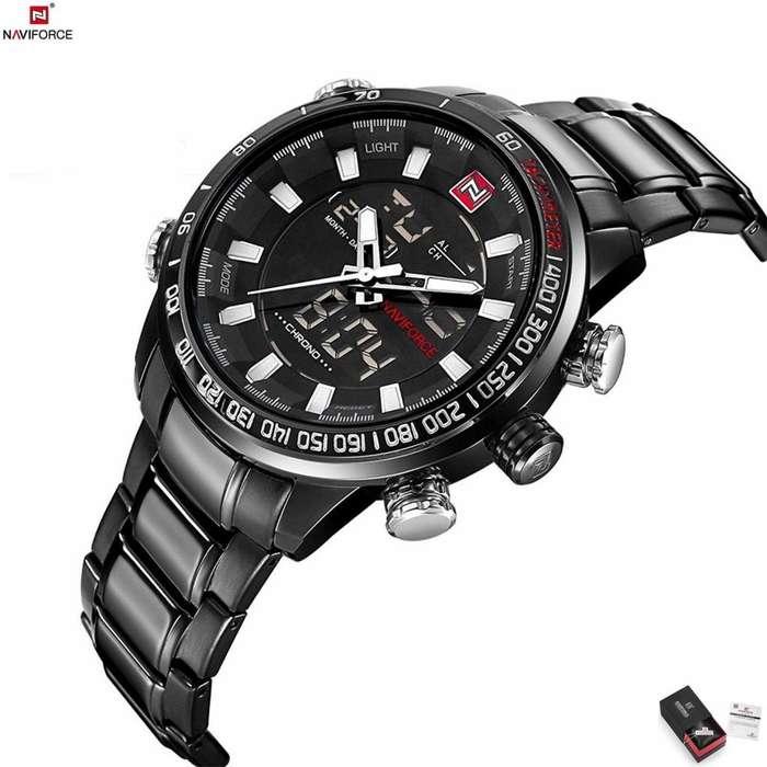Naviforce 9093 Reloj Hombre Analogo Digital Dual Pulsera