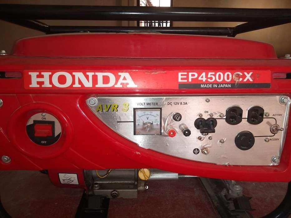 VENDO GENERADOR ELÉCTRICO MARCA HONDA EP4500 CX
