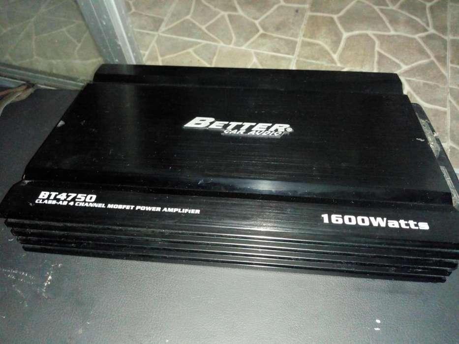 Planta de sonido Better BT4750 1600W 4 canales Mas Cajón MTX
