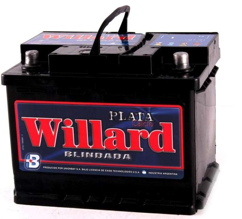 <strong>bateria</strong> willard 12x75 nueva