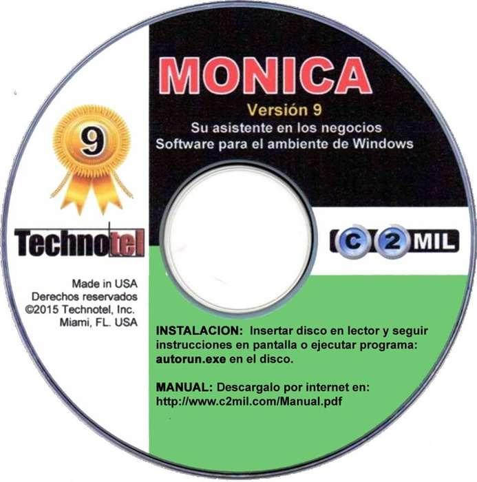 Monica 9 Programa Contable Administrativo Inventario. licencia Original