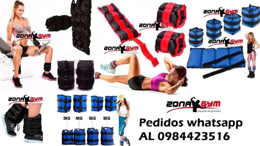 tobillera pesas, rueda abdomen, trx, barra doble, barras grandes, pelotas crossfit, magnesio, trampolin, trineo