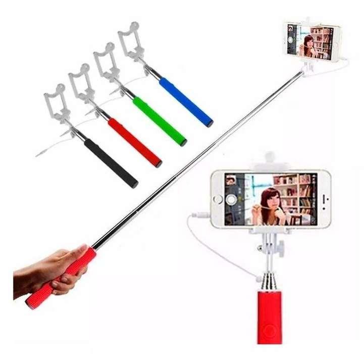 Monopod Cable Integrado Palo Selfies Celular iPhone