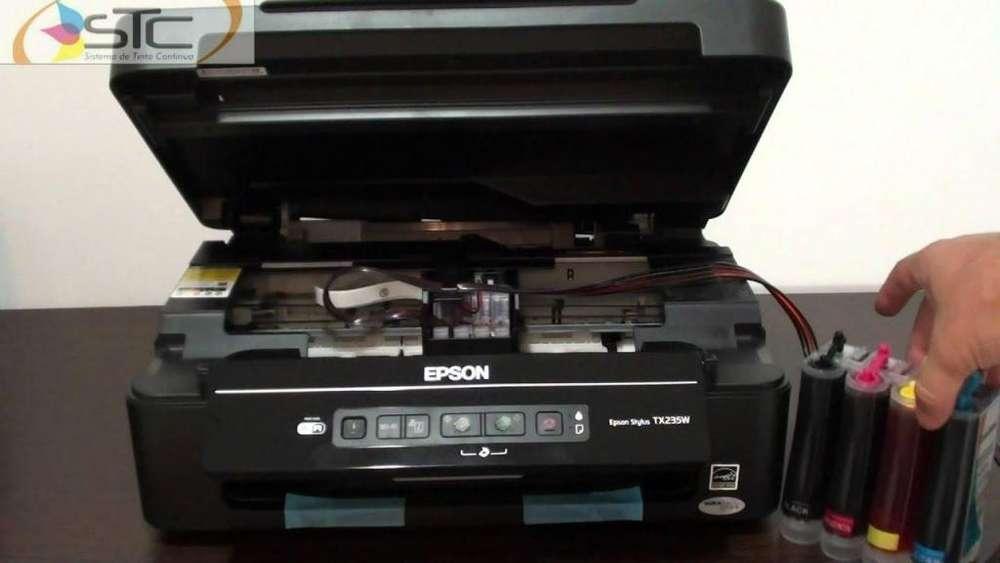 vendo impresora epson multifuncional tx 235 con wifi sistema continuo a 230 soles