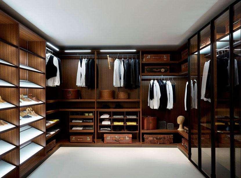 closet en madera para casa u hogar