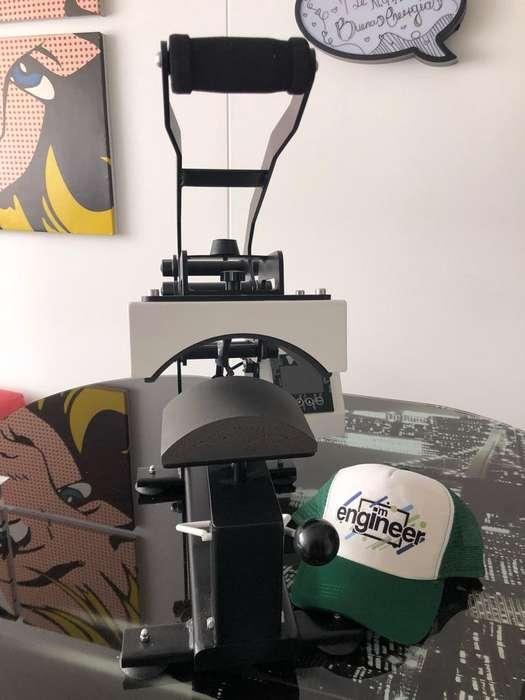 Maquina Prensa Sublimacion Gorras Riel