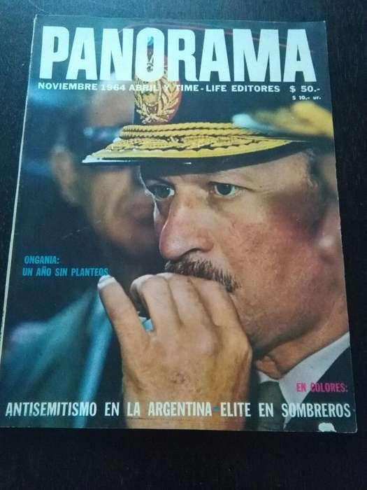 Antigua Revista Panorama nro 18 Ongania un año sin planteos 1964