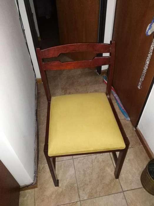 <strong>silla</strong>s de madera por 6