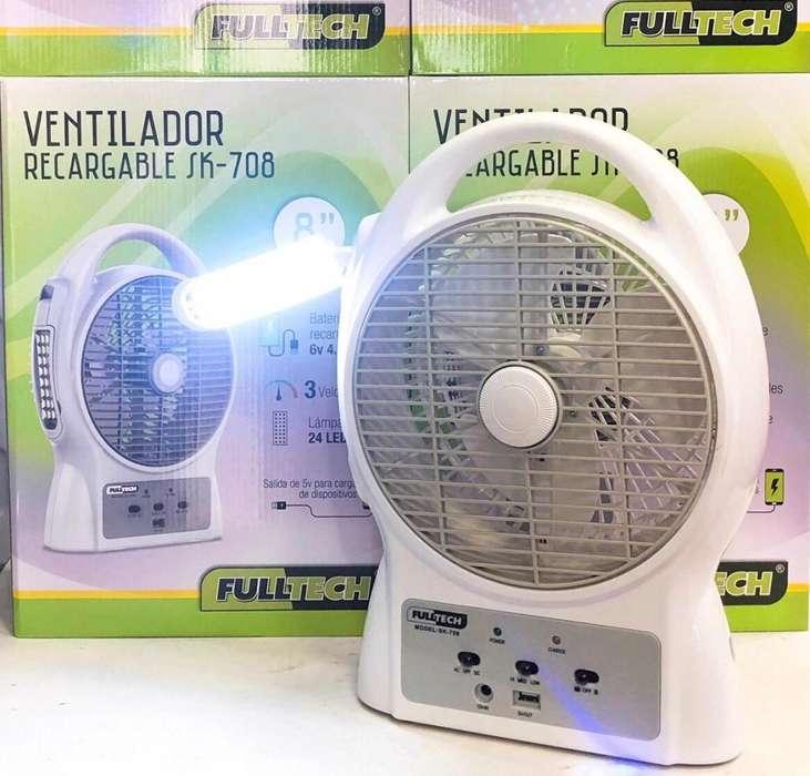Ventilador Recargable Fulltech