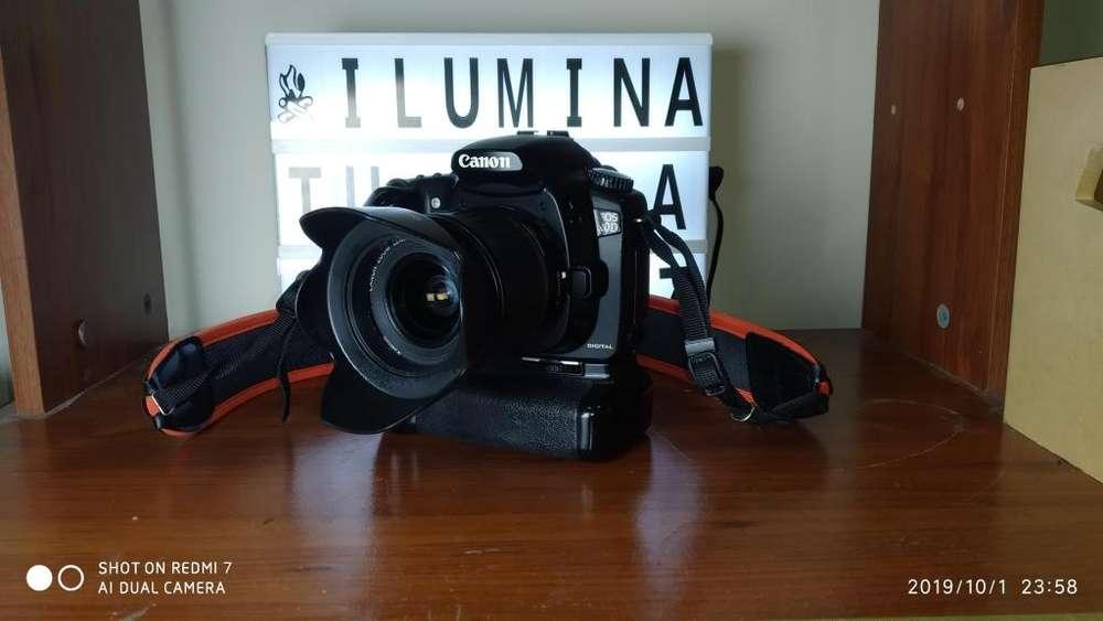 Camara Canon Digital Eos 20d Profesional Dslr con lente Ef-s 18-55mm