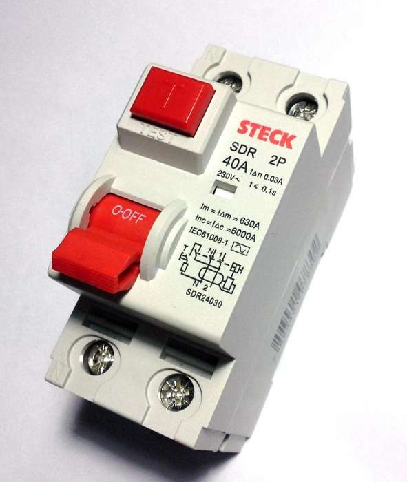 Interruptor Diferencial 2x40 Steck