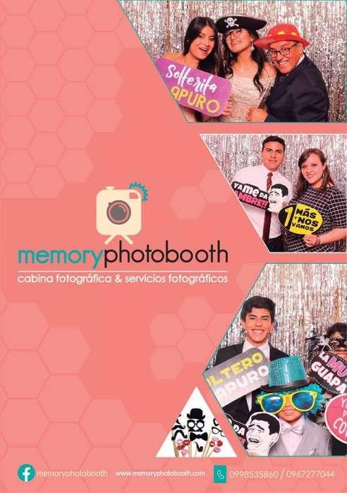 Memory photobooth, fotografía para bodas, fotografía graduaciones.