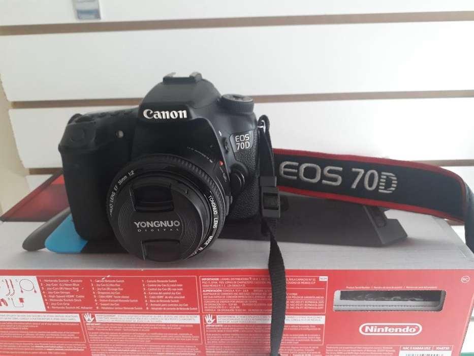 Camara Canon Eos 70d 35mm Yongnuo