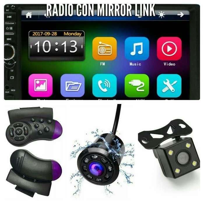 Radio Pantalla 7 con Cámara de Reversa